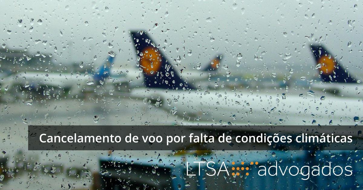 Cancelamento de voo por falta de condições climáticas