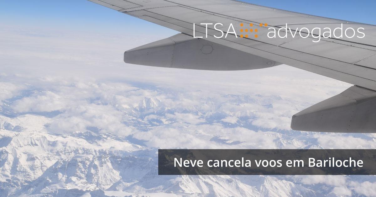 Neve cancela voos em Bariloche